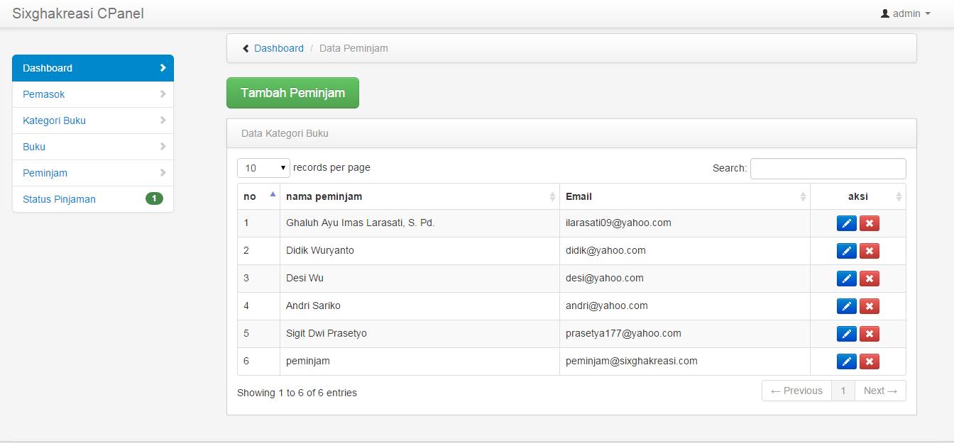 Aplikasi Perpustakaan Online dengan PHP dan mySQL