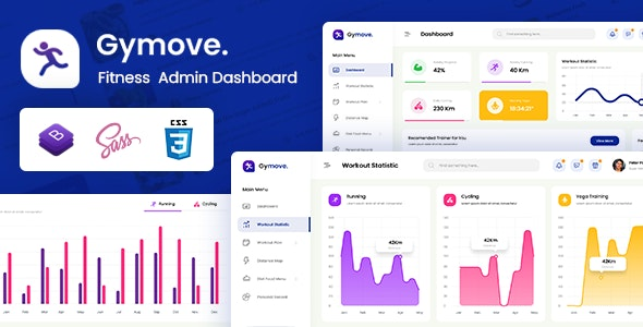 Admin & Dashboard Template Bootstrap Fitness
