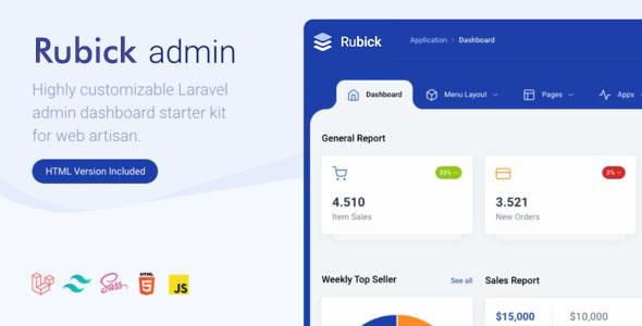 Admin & Dashboard Template Tailwind - Rubick