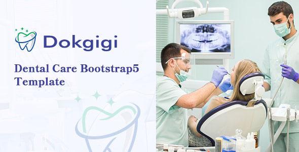 Template Bootstrap Tema Rumah Sakit & Dokter Perawatan Gigi