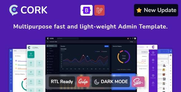Admin & Dashboard Template Bootstrap Cork
