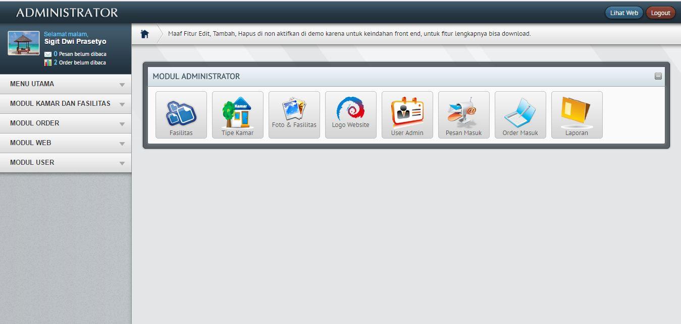 Aplikasi Penjualan Tiket Hotel dengan PHP dan MySQL