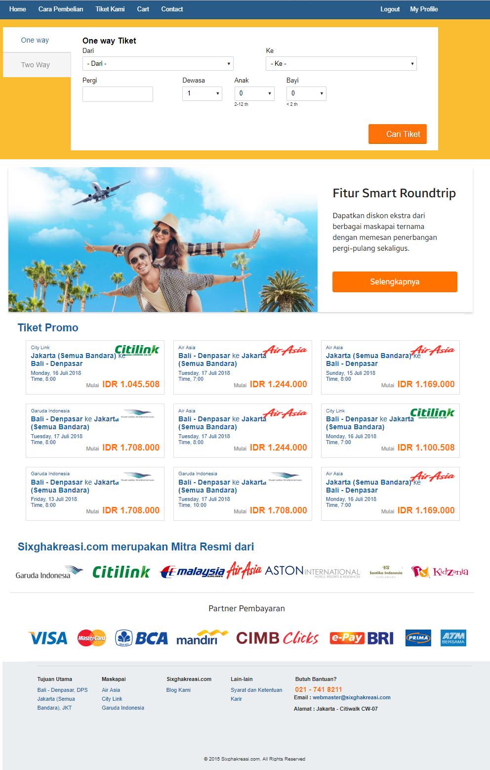 Aplikasi Penjualan Tiket pesawat